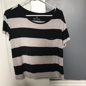 AE Black and white striped shirt